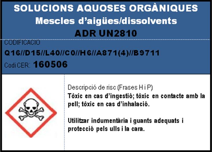 imatge en miniatura de l'etiqueta SOLUCIONS AQUOSES ORGANIQUES mescles aigues-dissolvents