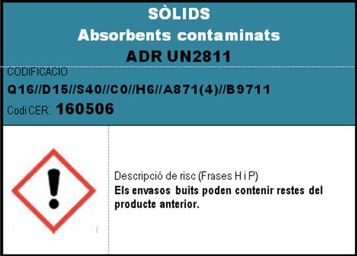 imatge en miniatura de l'etiqueta SOLIDS absorbents contaminats