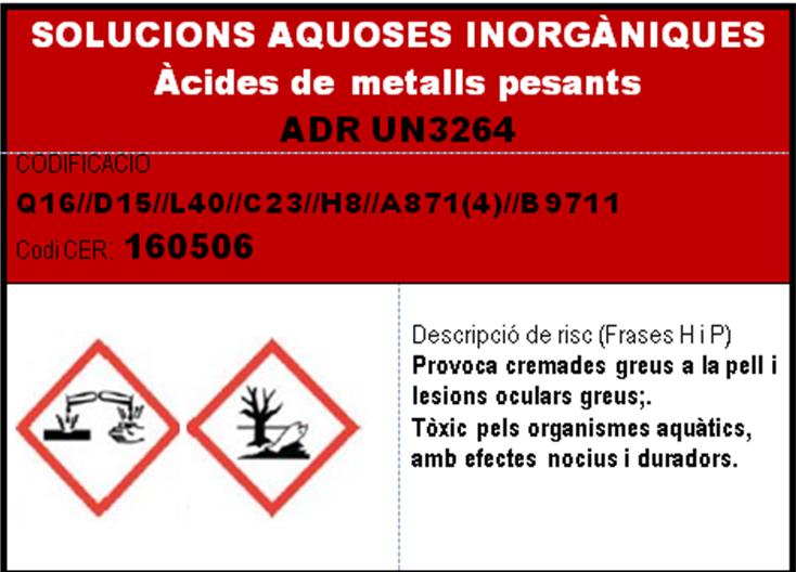 imatge en miniatura de l'etiqueta SOLUCIONS AQUOSES INORGANIQUES acides de metalls pesants